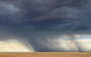 Thunderstorm in midwest plains